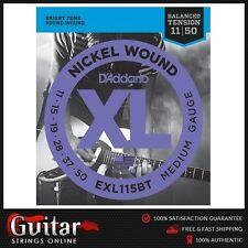 D'Addario EXL115BT Balanced Tension Electric Guitar Strings11-50 Daddario New