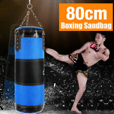 Sac de boxe Rempli frappe + suspension chaîne Crochet sable Exercice sport 80cm