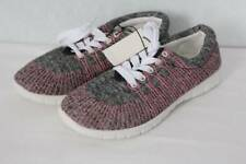NEW Womens Tennis Shoes Size 9* Gray Pink Lace-Up Ladies Casual Sneakers Comfort