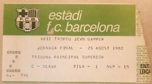 Maradona 's debut tournament and his first goal for Barcelona 1982 ticket