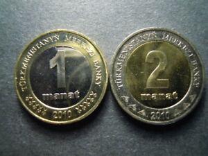 2010 Turkmenistan 1 2 manat 2 pcs UNC