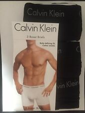 New NIP Calvin Klein Men Boxer Briefs Cotton Stretch 3-Pack Size XL
