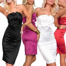 Bandeaukleid Cocktailkleid Kleid trägerlos knielang Gr. 32-34-36-38/40