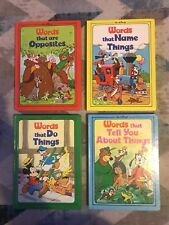 """*BRAND NEW* Vintage 1976 Walt Disney """"Words That Are Opposites & That...Things"""""""