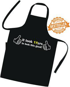 18th BIRTHDAY / Cooks / Chefs Full Length Apron / Superb Quality / Birthday Gift