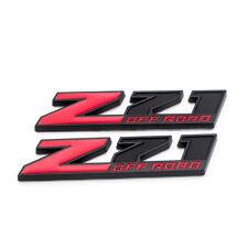 2x Red/Black Coated Z71 OFF ROAD Badge Sport Emblem for Silverado Sierra Tahoe