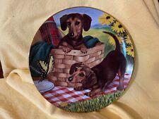 Danbury Mint Dachshund Dog Collector Plate - Picni 00004000 c Pals