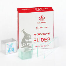 AmScope 72 Blank Microscope Slides with 100 Square Cover Slips