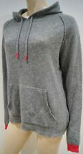 CHINTI & PARKER Grey & Hot Pink Cashmere Hoodie Hooded Sweater Jumper Top L