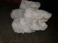 Next Grey Boot Slippers Size 4 Infant