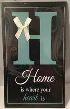 Home Is Where Your Heart Is Wooden Plaque Wall Decor