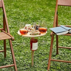 Outdoor Wine Glass Portable Picnic Collapsible Table Racks Table fit Furniture