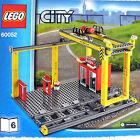 Lego City Cargo Train Station Cargo Crane & Loading Dock + 2 S-Track (60052 B6)
