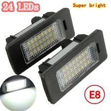2X E-marked 24 LED Number License Plate Light No Error For BMW E81 E82 E90 E91