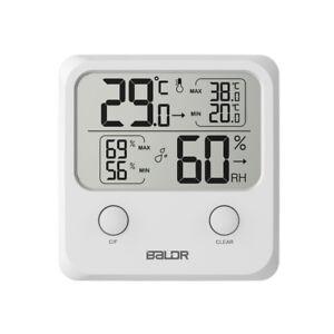 Digital Thermometer LCD Humidity Meter Indoor Max/Min Hygrometer Temperature