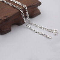 """18.9"""" Pure 999 Fine Silver Necklace 3mm Special Link Chain Necklace Stamped S999"""