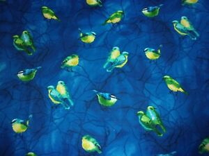 CLEARANCE 1 YARD Birds Deep Forest Timeless Treasures Quilting Crafts Fabric