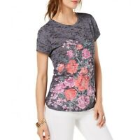 INC NEW Women's Floral Embellished Burnout Casual Shirt Top TEDO