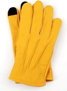 Men's Genuine Sheep Leather Dress Driving Riding Cycling Texting Gloves