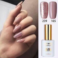RS UV LED Gel Nail Polish Varnish Soak Off 0.5fl.oze Glitter Nude Grey Colour