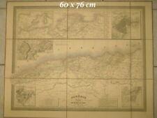 Rare - Carte Algérie Dufour dédiée au Roi 1842 J. Andriveau-Goujon