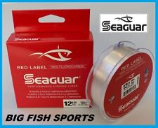 SEAGUAR RED LABEL Fluorocarbon Fishing Line 12lb/200yd 12 RM 200 FREE USA SHIP!