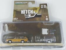 Greenlight 1977 Pontiac Lemans Safari with Utility Trailer Hitch Tow Series 18
