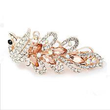 Cute Crystal Rhinestone Butterfly Hair Barrette Clips Hairpin Women's Jewelry