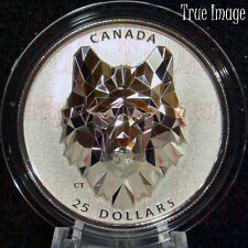2019 Wolf - Multifaceted Animal Head #1 - $25 EHR Proof Pure Silver Coin Canada