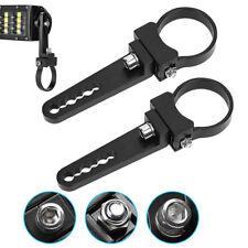 "2x Bull Bar Roll Cage Mounting Brackets LED Light Bar Clamps ATV UTE 44mm 1.75"""