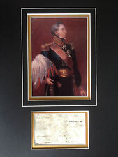 SIR HUSSEY VIVIAN - BATTLE OF WATERLOO ARMY OFFICER - SIGNED COLOUR DISPLAY