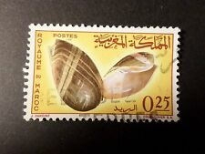 MAROC, timbre 488, COQUILLAGE, oblitéré, SHELL VF STAMP