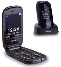TTfone Lunar Big Button Simple Easy Vodafone Pay as you go Mobile Phone Blue