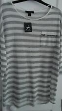 Atmosphere Striped Regular Size Tops & Shirts for Women