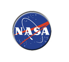 "NASA  1"" / 25mm / pin button / badge / US / space / UFO / government / sci-fi"