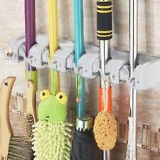 New Wall Mounted Mop Bathroom Holder Hanger Home Kitchen Broom Organizer Tool