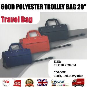 Cabin Approved Wheeled Travel Bag Suitcase Duffle Holdall Trolley Hand Luggage