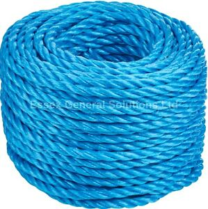 Blue Poly Rope 6mm 8mm 10mm 12mm Builder Rope Polypropylene Nylon Tarpaulin