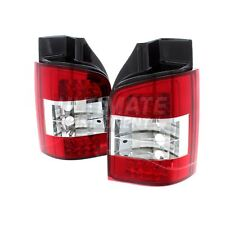 VW TRANSPORTER T5 Van 2003-2010 LED Rear Tailgate Lights Lamps Clear Red 1 Pair