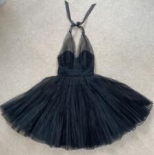 Oasis. Vintage Marilyn Monroe Estilo Vestido Negro. 50s full skirt. Talla 10