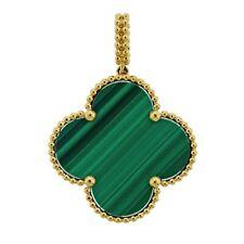 Van Cleef & Arpels Magic Alhambra Malachite Gold Pendant