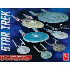 AMT Star Trek U.S.S. Enterprise Box Set - 1:2500 Scale Model Snap Kit - 7 Kits !