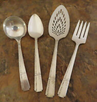 Oneida Grenoble 4 Serving Pieces Heirloom Vintage Silverplate Flatware Lot H