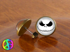 Jack Skellington Skull Nightmare Before Christmas Earrings Ear Stud Studs Gift