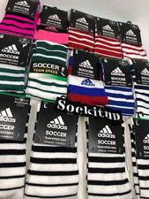 Adidas Soccer Team Speed Sock Black And White Large Men's 9-13 Women's 10-12