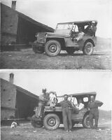 2 PHOTO ORIGINALI  JEEP WILLY - 1950