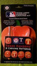 Texas Rangers MLB Officially Licensed Pumpkin Carving Kit, Halloween Baseball