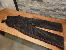 Yamaha Leather Snowmobile Bibs Vintage Maxim Wear Size Medium COOL!