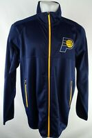 Indiana Pacers NBA Men's Full-Zip Soft Shell Navy Blue Track Jacket