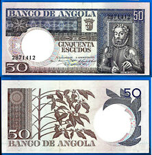 Angola 50 Escudos 1973 Offset Banknote Plant Bill Africa FREE Shipping Worldwide